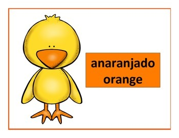 spanish colors posters chick theme