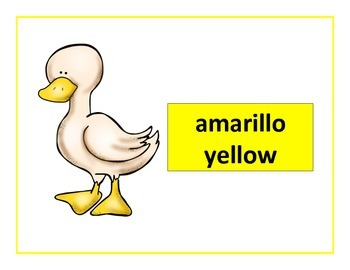 spanish colors posters duck theme