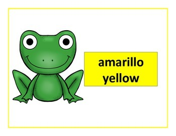 spanish colors posters frog theme