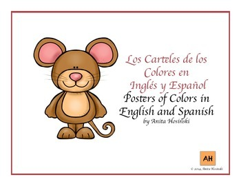 spanish colors posters mouse theme