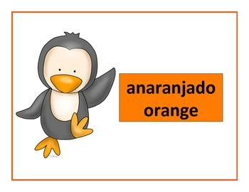 spanish colors posters penguin theme