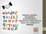 spanish greetings, farewells, introductions, vowels & alphabet