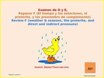 2nd year spanish asi se dice Repaso F teacher lesson