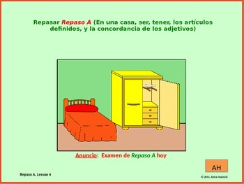 2nd year spanish asi se dice Repaso A, teacher lesson 4 on power point