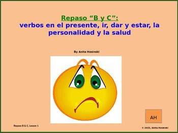 2nd year spanish asi se dice Repasos B & C teacher lesson 1 on power point