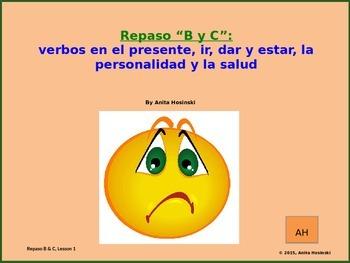 2nd year spanish asi se dice Repasos B & C teacher lesson