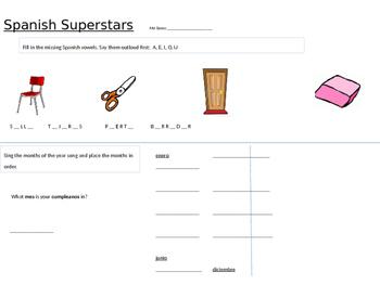 spanish superstar homework