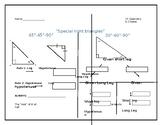 special right triangles graphic organizer