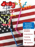 Speech and Language 4th of July Craftivity
