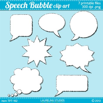 speech bubble clip art with black chalky outlines