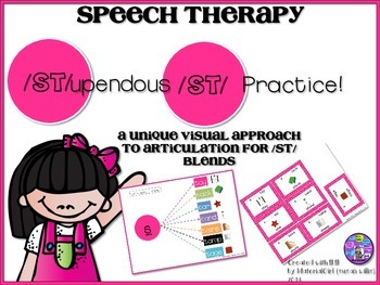 speech therapy articulation ST blends graphic organizer flashcards card autism
