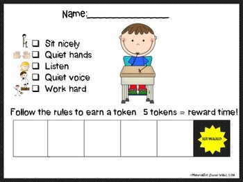 speech therapy behavior reward chart bundle special ed classroom tokens centers