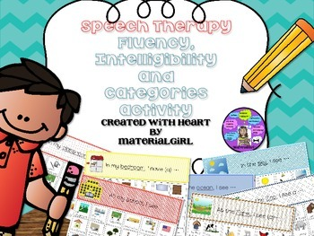 speech therapy fluency intelligibility categories activity stuttering vocabulary