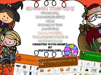 Halloween Thanksgiving Christmas Clipart.Speech Therapy Halloween Thanksgiving Christmas Valentine S Fluency Categories