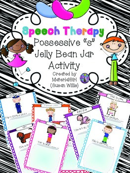 speech therapy possessive s grammar categories vocabulary JELLY BEAN JAR sort