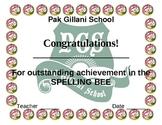 spelling bee award