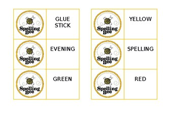 spelling competition cards