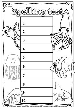 spelling test (FLASH FREEBIE)
