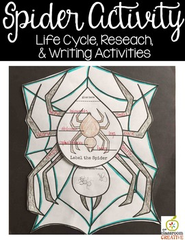 Spider Activity (Editable Writing Prompts)