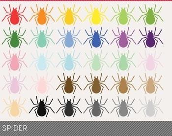 spider Digital Clipart, spider Graphics, spider PNG, Rainbow spider Digital