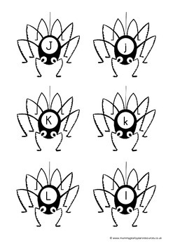 spider letters -  phonics, free writing and sight word practice.