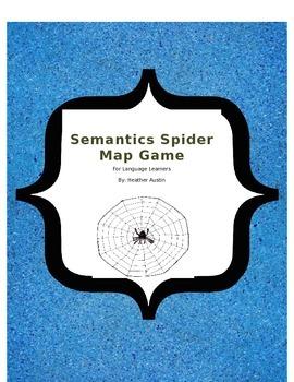 spider word game for ells  beginning esl
