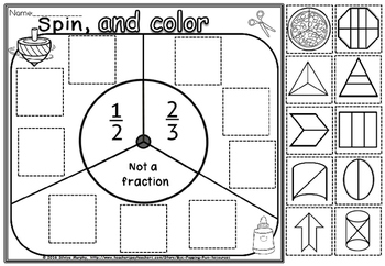 spin read and color fractions.