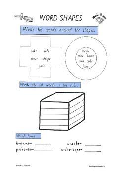 split vowels Activity Pack