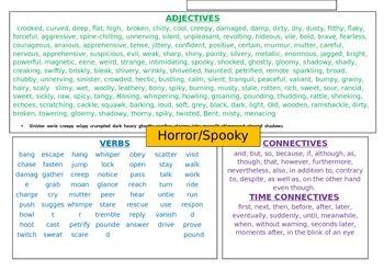 spooky setting descriptive writing mats