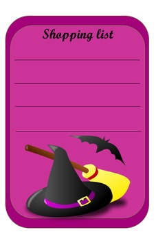 spooky shopping list