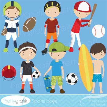 sports clipart commercial use, vector graphics, digital clip art - CL518