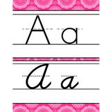 spring PAISLEY - Classroom Decor - Alphabet, Handwriting,