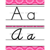 spring PAISLEY - Classroom Decor - Alphabet, Handwriting,