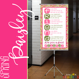 spring PAISLEY - Classroom Decor - BANNER - MED - Are You