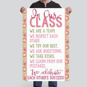 spring PAISLEY - Classroom Decor - BANNER - MED - In Our Class