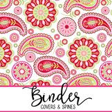 spring PAISLEY - Classroom Decor, BINDER covers - Teachers & Students, editable