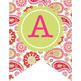 spring PAISLEY - Classroom Decor, Create a BANNER, flag, pennant - editable