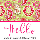 spring PAISLEY - Classroom Decor, PowerPoint, wide-format