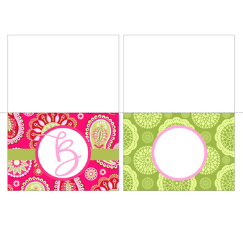 spring PAISLEY - Classroom Decor, Stationery, Note Cards, editable
