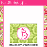 spring PAISLEY - Classroom Decor, Stationery, Note Cards,