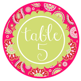 spring PAISLEY - Classroom Decor, TABLE Circle Signs, Word