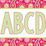 spring PAISLEY - Classroom Decor, bulletin board letters,