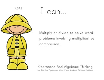 spring Theme 4th Fourth Common Core Posters Math Mathemati