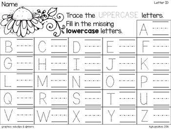 spring blooms: alphabet puzzles and recording sheets