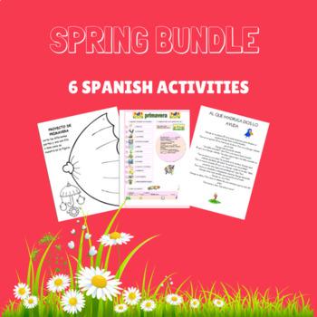 spring bundle spanish activities / actividades de primaver