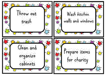 spring cleaning task cards