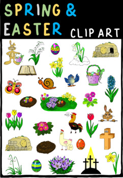 spring & easter cliparts