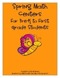 spring math centers for pre-K to 1st grade