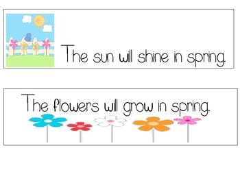 spring sentences: Write the room