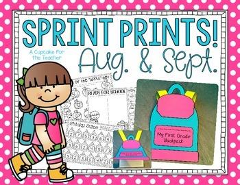 Sprint Prints! August & September {Printables & Craftivity}